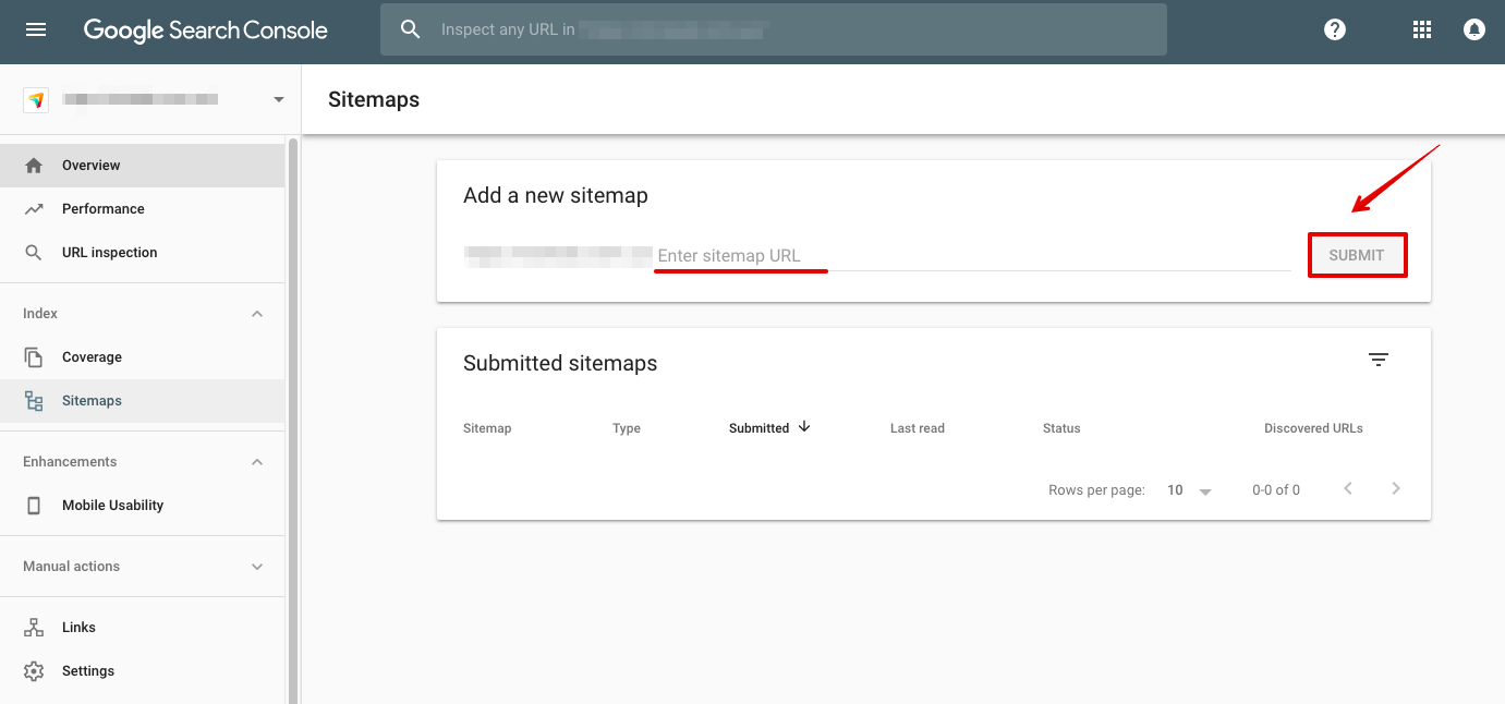 how to add sitemap to google search console