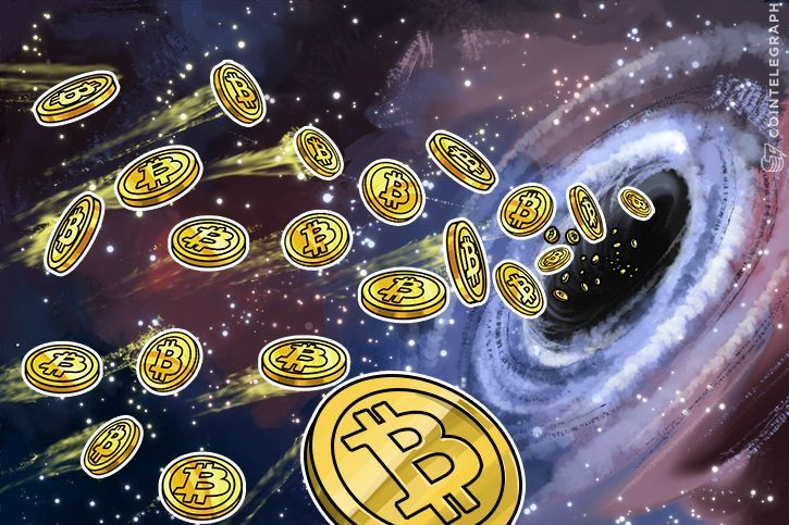 Bitcoins and a black hole
