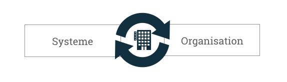Wechselwirkung Systeme, Prozesse und Organisation im Kontext Innovation.