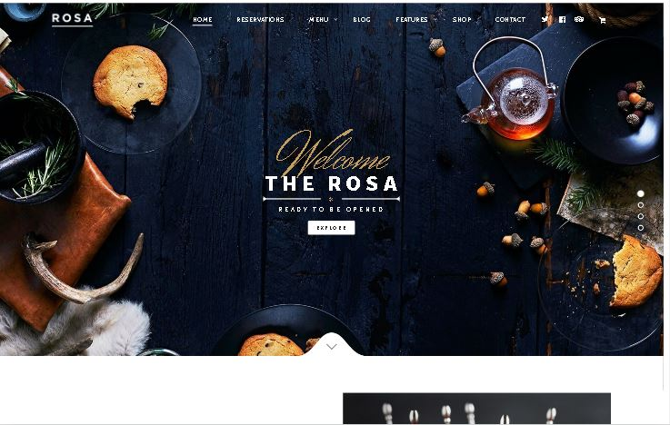 woocommerce bakery themes ROSA 1