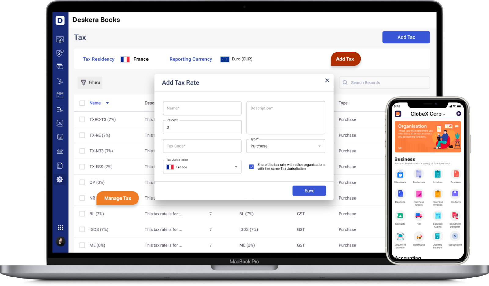 Deskera Cloud Accounting Software Tax Compliance