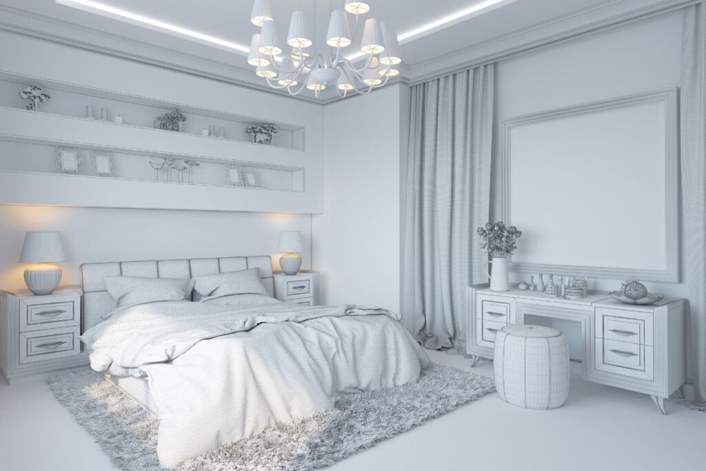 Silver Hues provide Luxury to your Bedroom