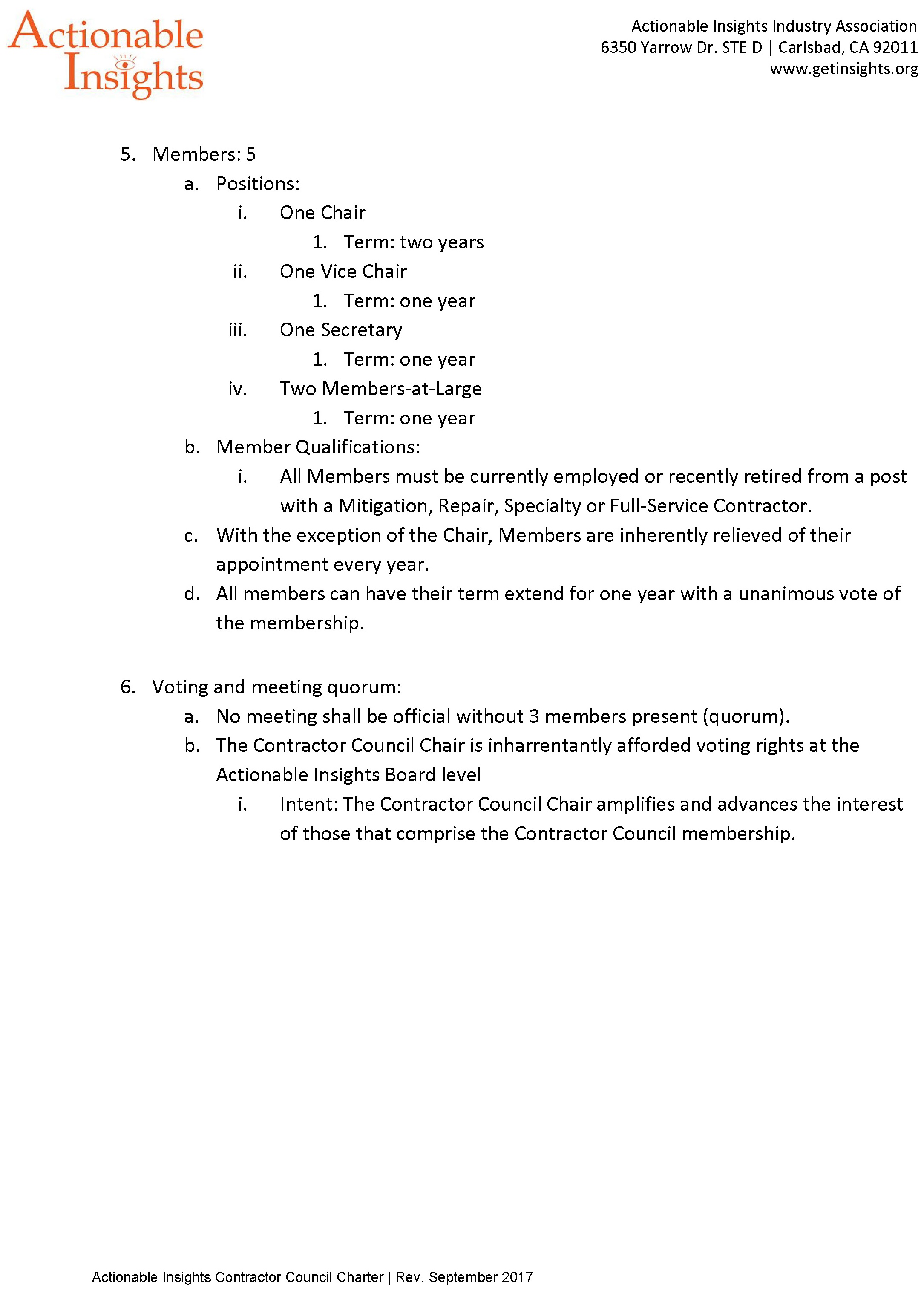 Contractor Council Charter (page 2 of 2)