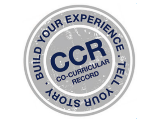 Descriptive Text: CCR Logo - Build Your Experience. Tell Your Story. CCR Co-Curricular Record
