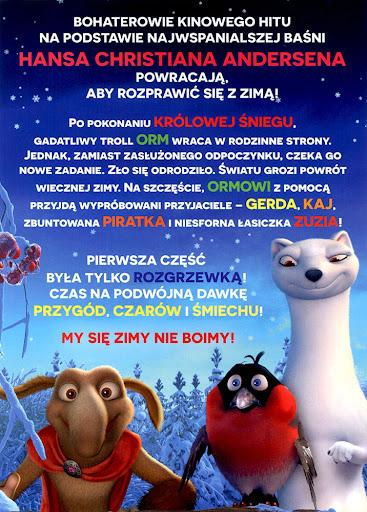 Tył ulotki filmu 'Królowa Śniegu 2'