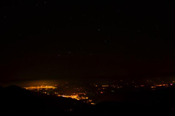 La plaine vu du Pic du Midi, la nuit