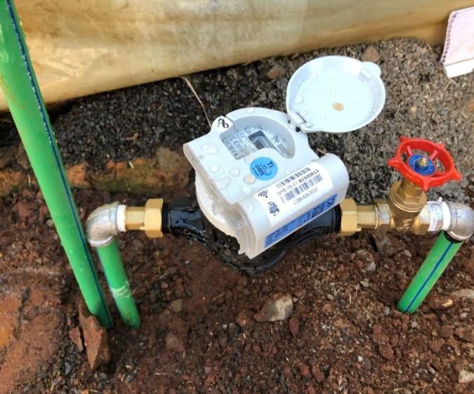 Consumer smart water meter installation in Kipkorgot