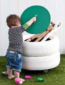 tyre storage bin