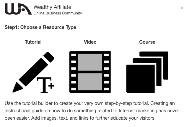 Wealthy Affiliate Create a Member training