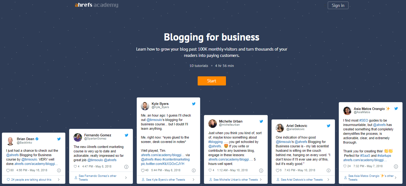 Blogging for Business by Ahrefs