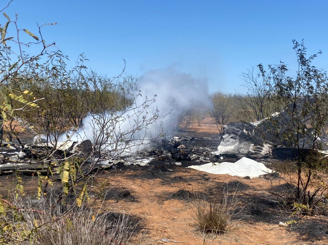 Desplome avioneta en Sonora