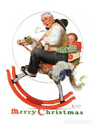 Gramps on the Rocking Horse Norman Rockwell