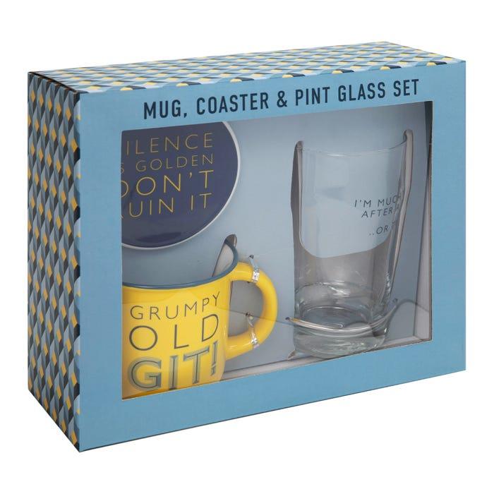 Father's Day Celebration 2021; Clintons' Mug, Coaster and Pint Glass Set