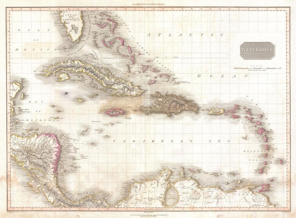 Pinkerton mapa de las Indias Occidentales se utilizó para nuestro mundo abierto.