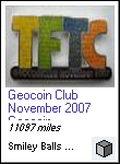 Geocoin Club November 2007 Geocoin