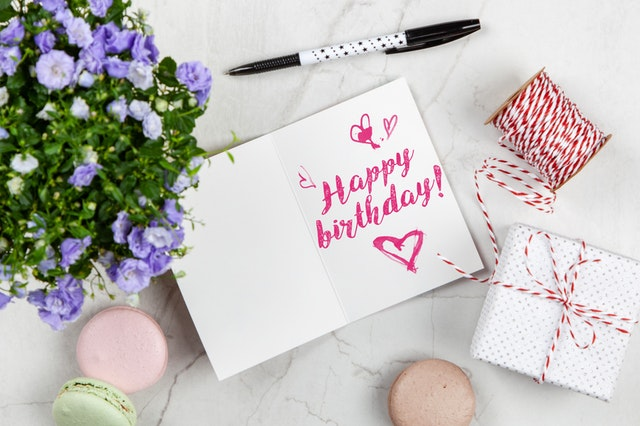 birthday gifts for her - happy birthday card