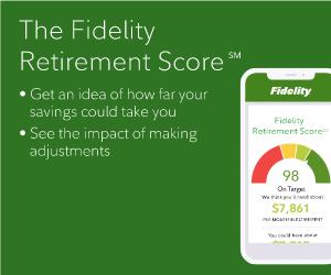 Fidelity Retirement Score Ad Example