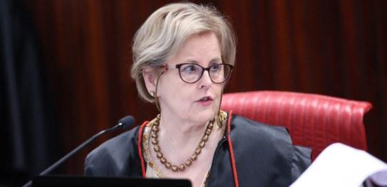 Ministra Rosa Weber durante sessão plenária do TSE