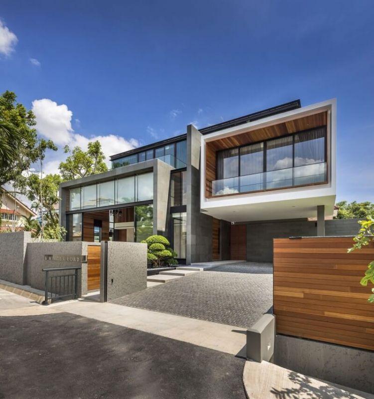 desain rumah minimalis 2 lantai futuristik