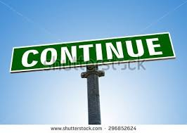 Sign says continue