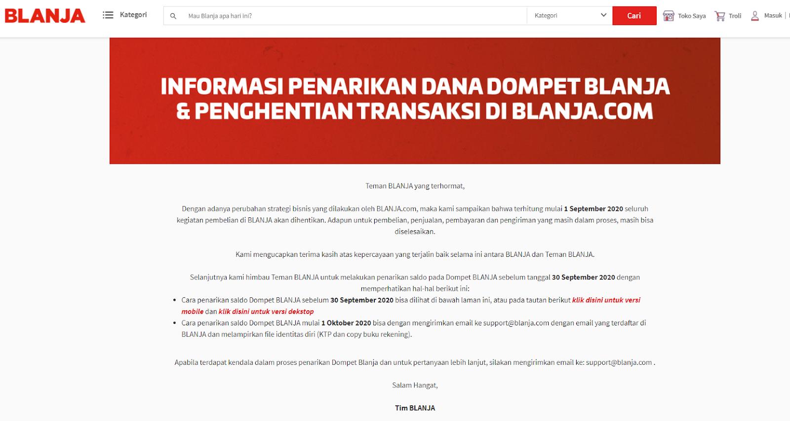 screenshoy website blanja.com