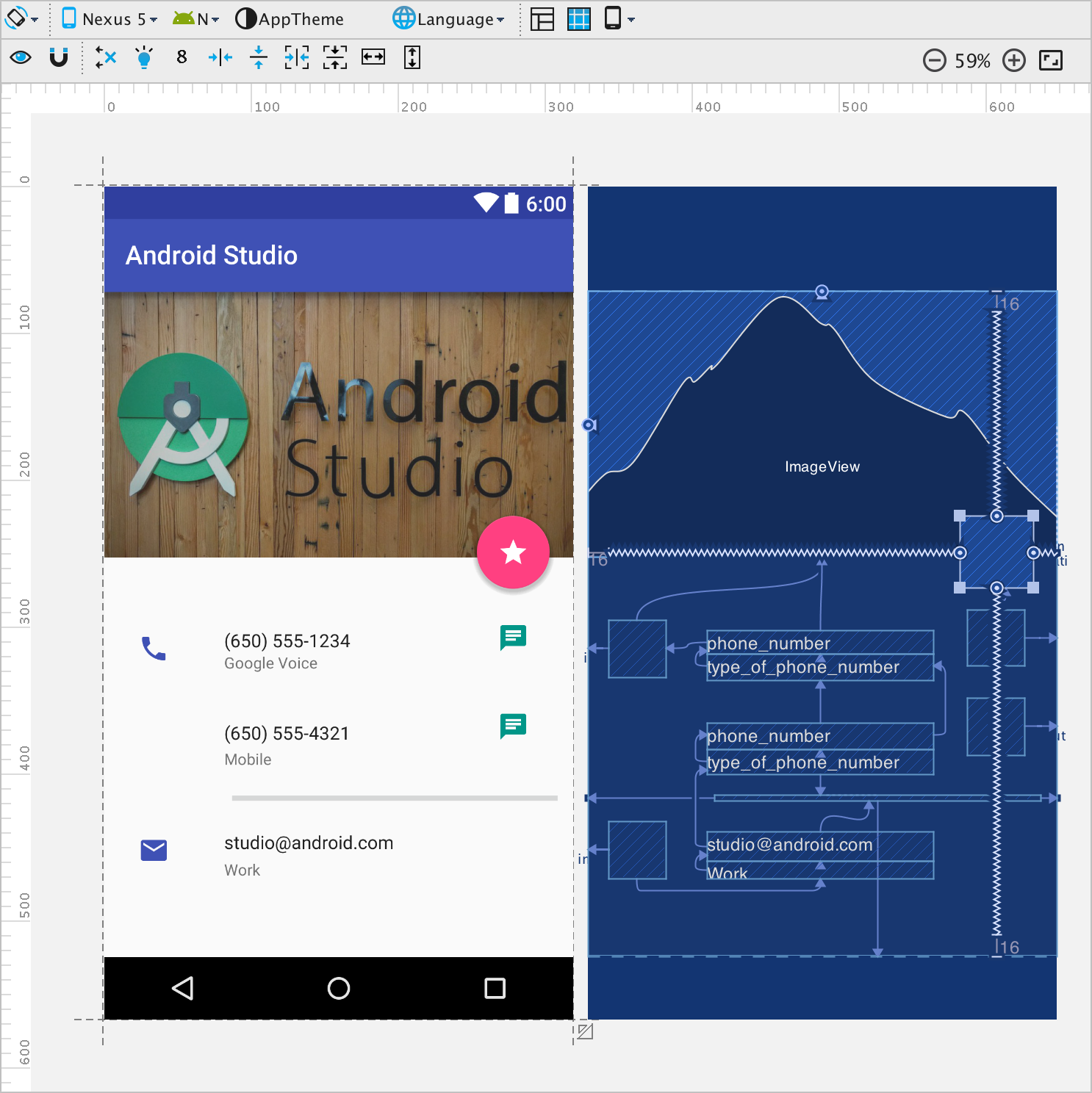 New Layout Editor with Constraint Layout - Android Studio