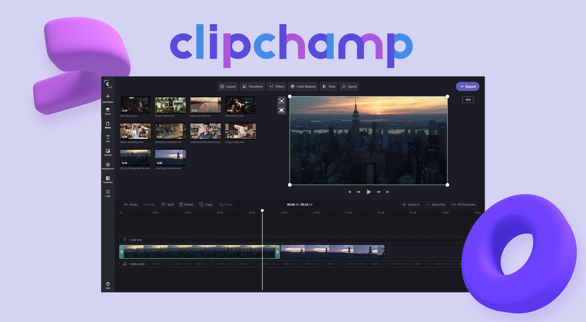 clipchamp banner photo