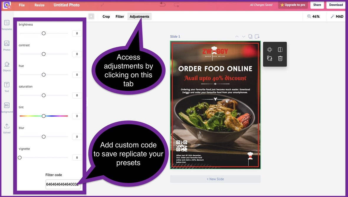 How to create a business flyer - step 4 -screenshot 5