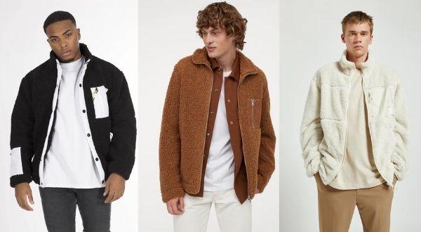 faux shearling jackets for men