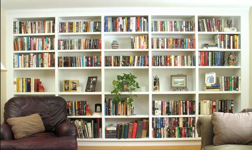 rak buku bisa sebagai dekorasi maupun mengurangi polusi suara