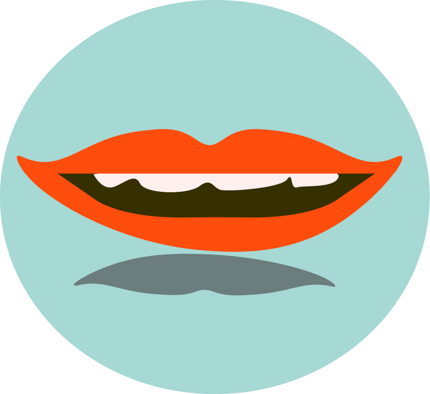 cartoon of a mouth