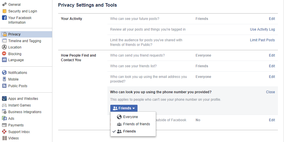 How to adjust your Facebook privacy settings