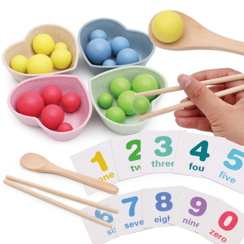 activité bilingue chiffre nombre compter triage activité outils de tri bleu jaune rouge vert