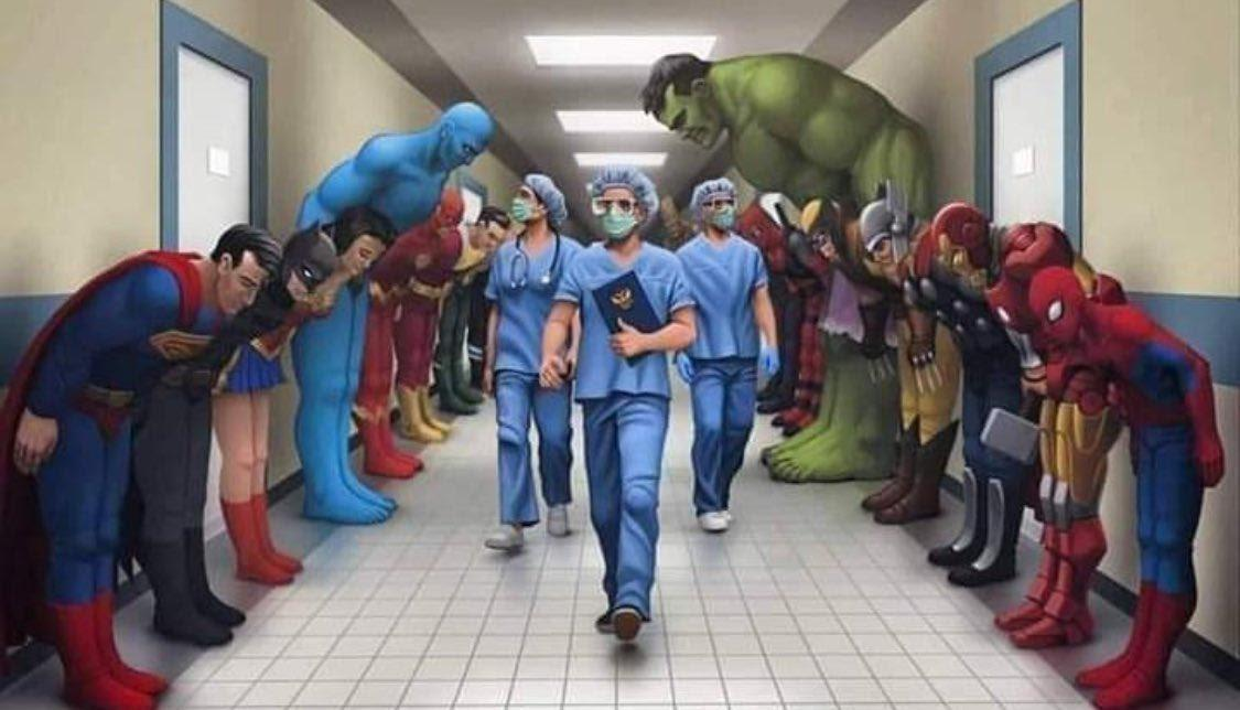 doctors and nurses are real life heroes