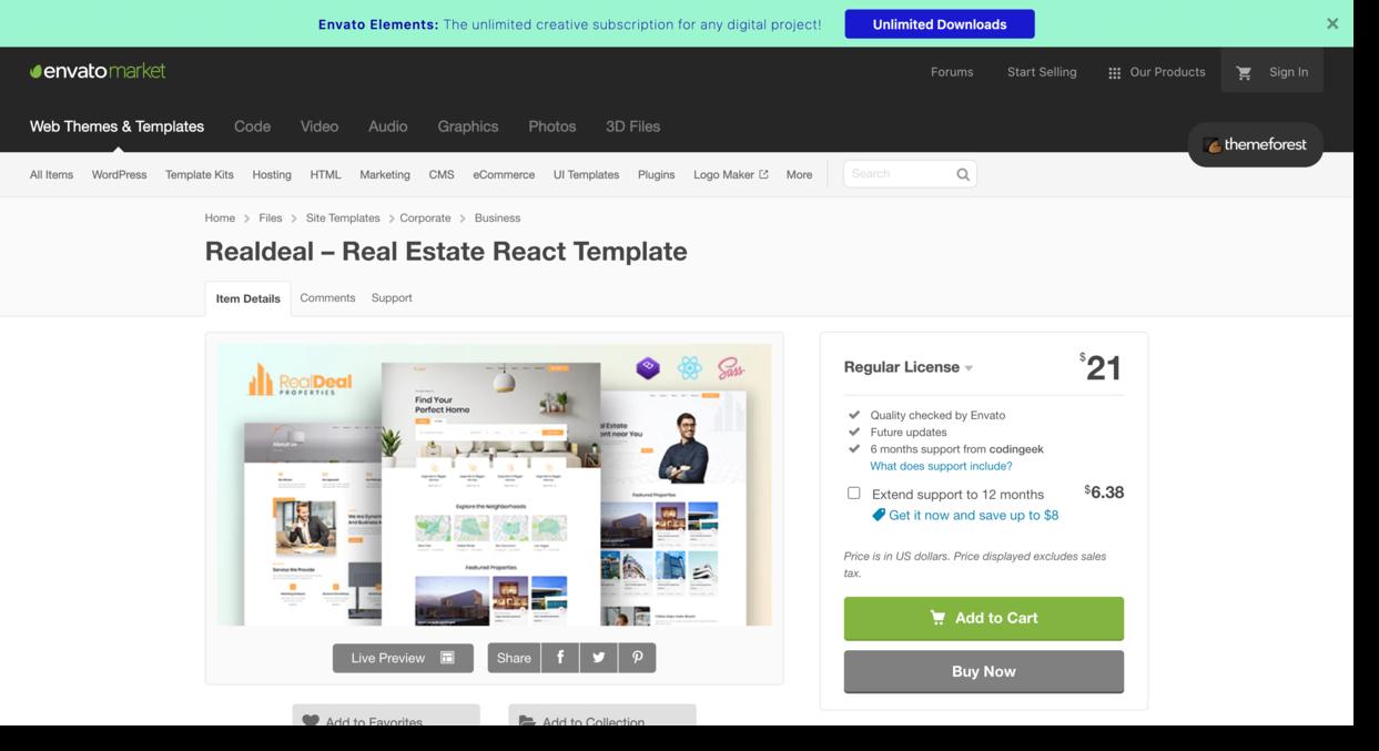 Realdeal Template on envato market Real Estate Website Design