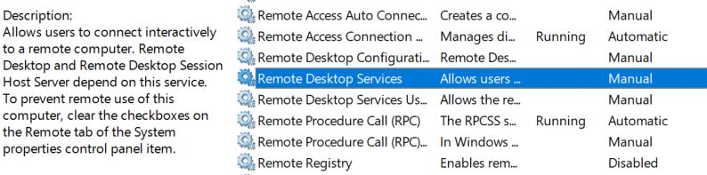 Remote Desktop Service.