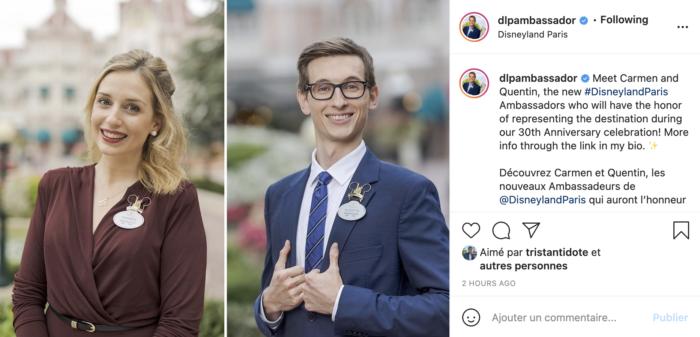 ambassadeurs disneyland paris 2022 2023