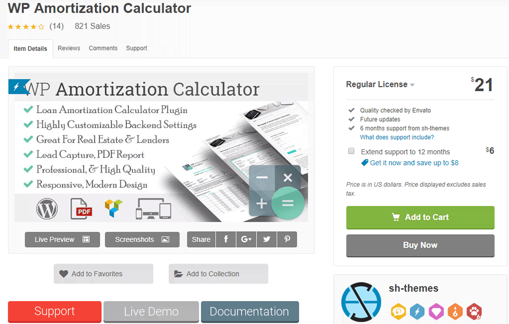 wp amortization calculator plugin para wordpress