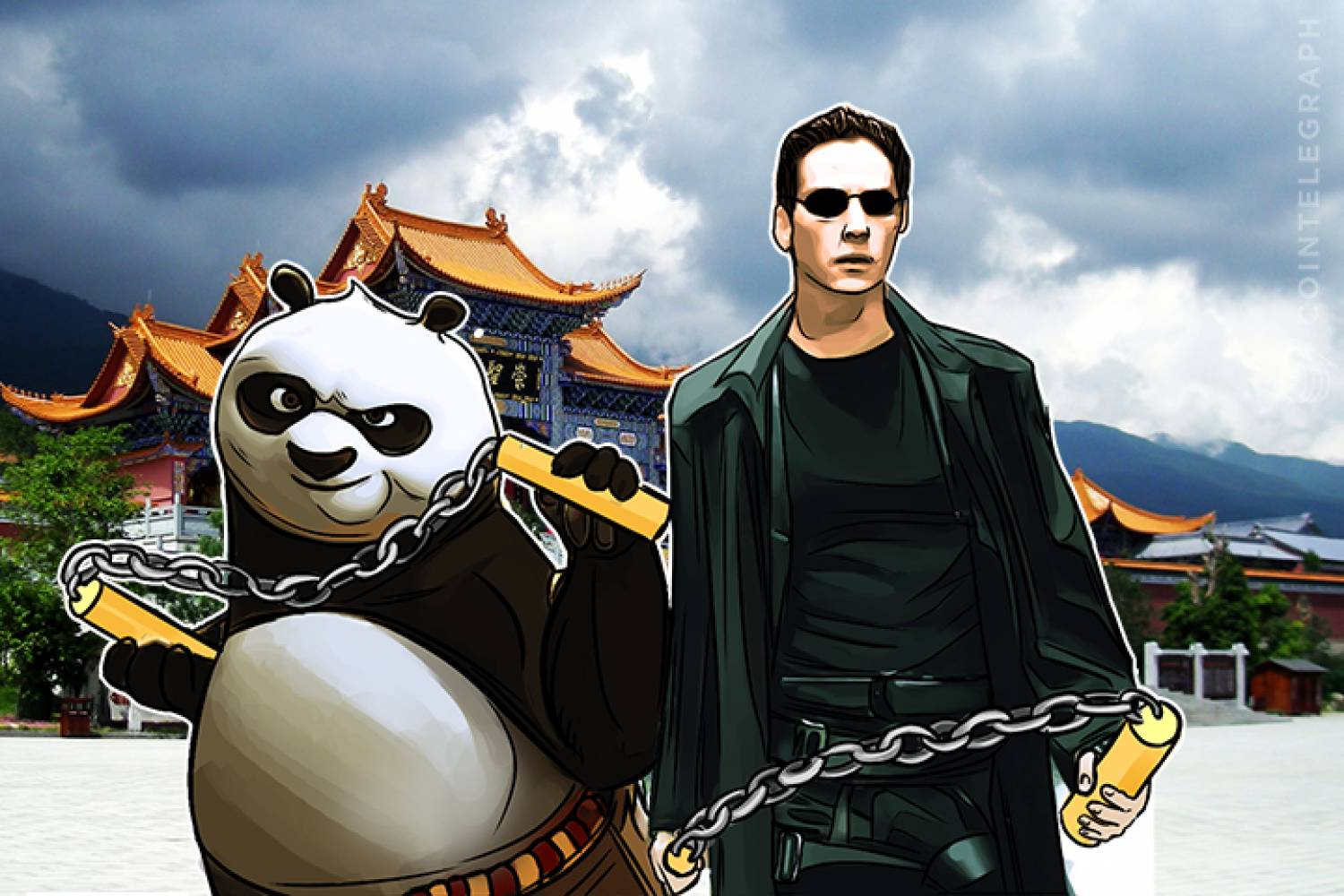 Neo and Kung Fu Panda