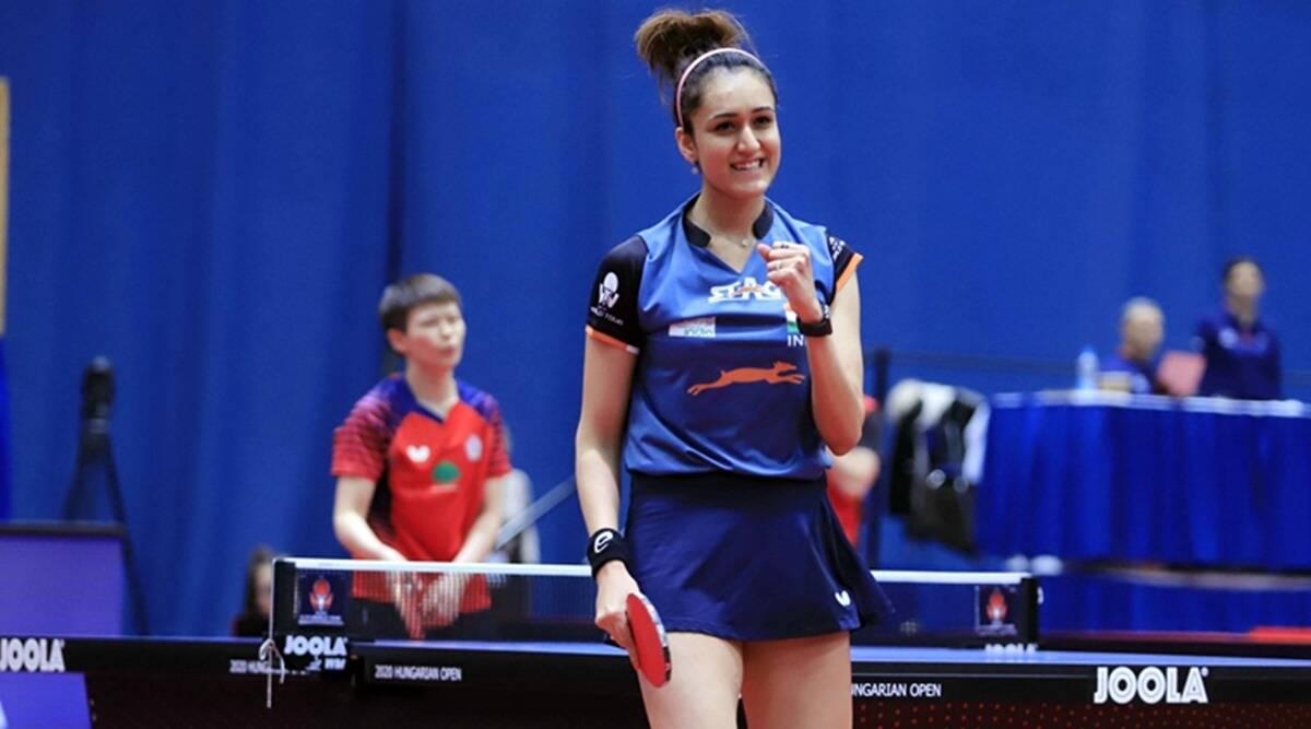 Manika Batra celebrates her victory