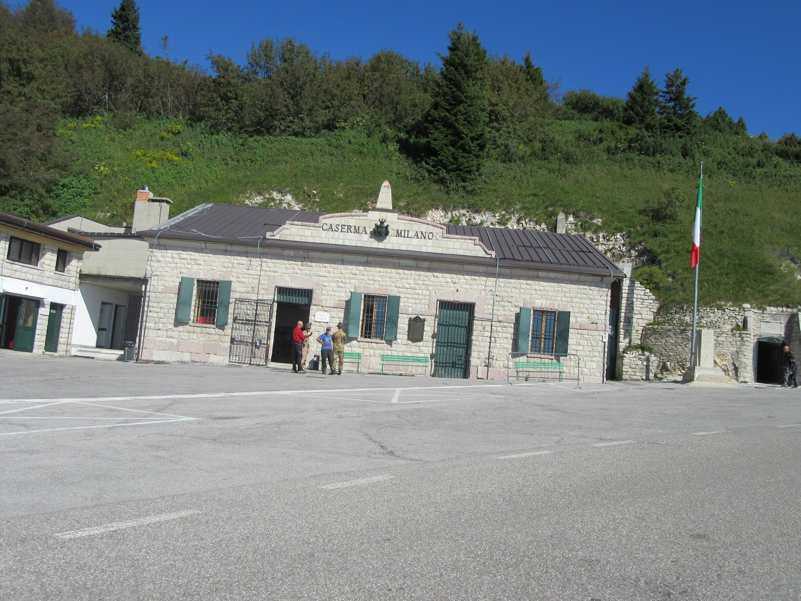 Bicycle ride  Monte Grappa from Semonzo - WW I museum and parking lot