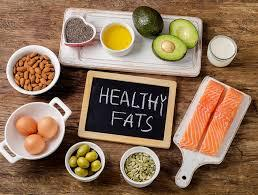 healthy fats with nuts, egg, avocados, fish