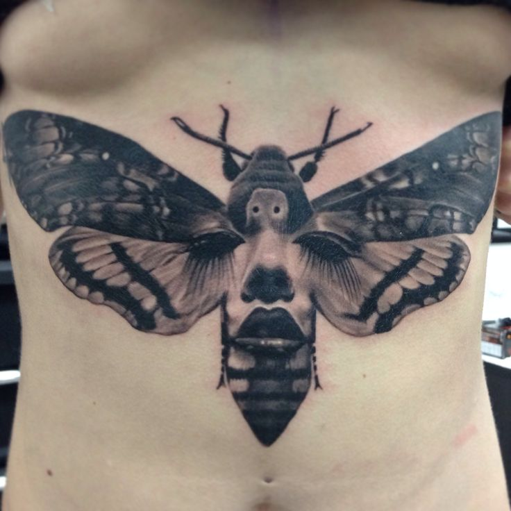 Creepy And Cool Mashup Of A Death Moth Womans Face Created By