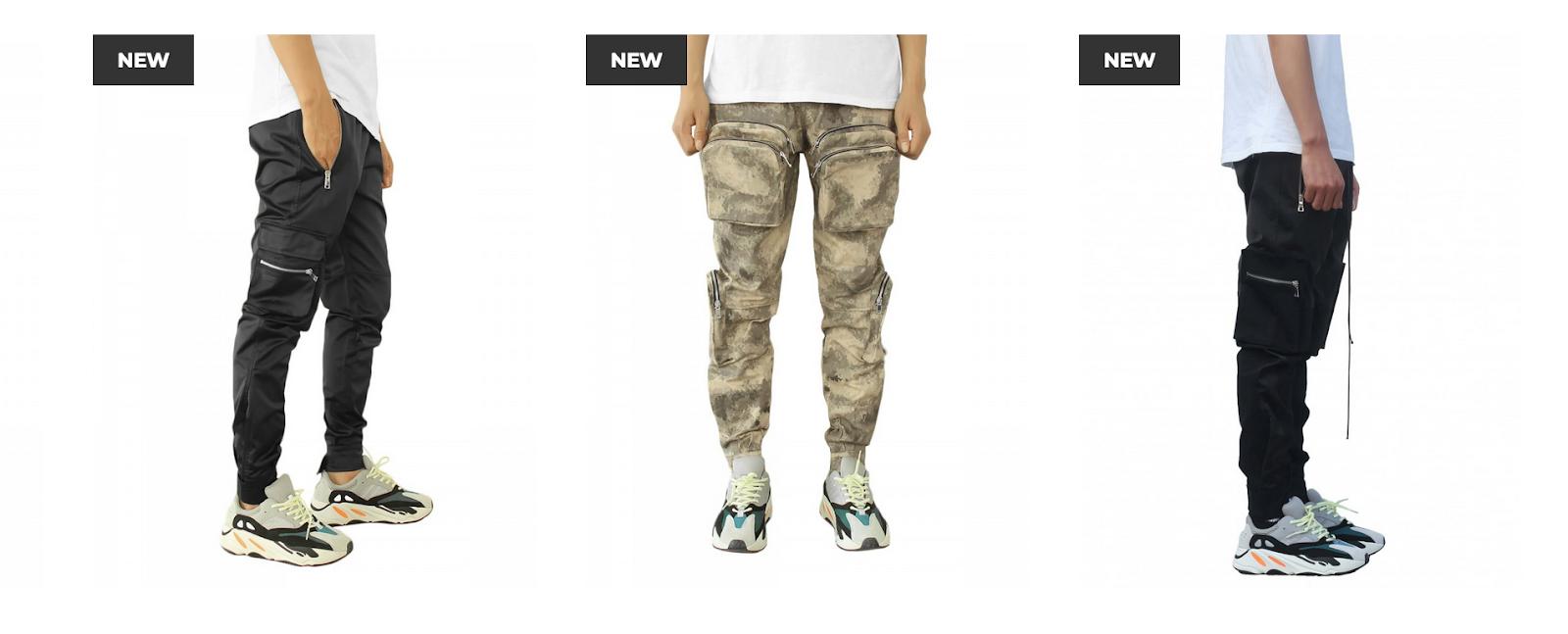 Black military pants + camo pants | URKOOL
