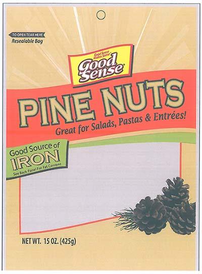Front Label, Good Sense PINE NUTS NET WT. 15 OZ. (425) g