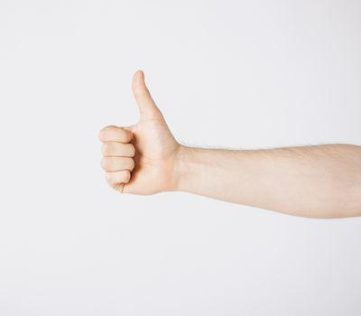 man showing thumbs up Royalty Free Stock Image | YAYIMAGES ...