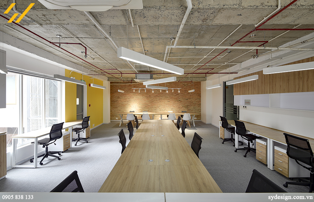 Không gian phòng họp nhỏ rất thích hợp với kiểu bàn ghế màu sắc trung tính, nhỏ gọn