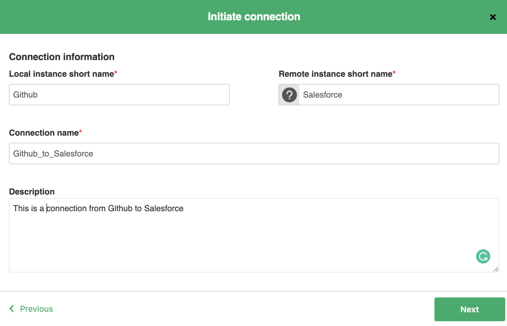 initiate GitHub salesforce integration in script mode