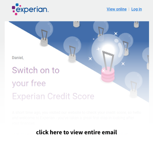 Mailigen Welcome Emails Experian