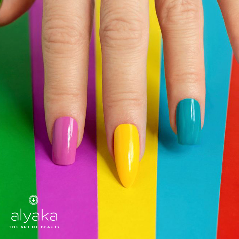 Multicolored Celebrity Nails